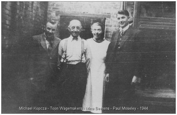 Kopcza and Moseley with helpers Toon Wagemakers and Mina Beerens