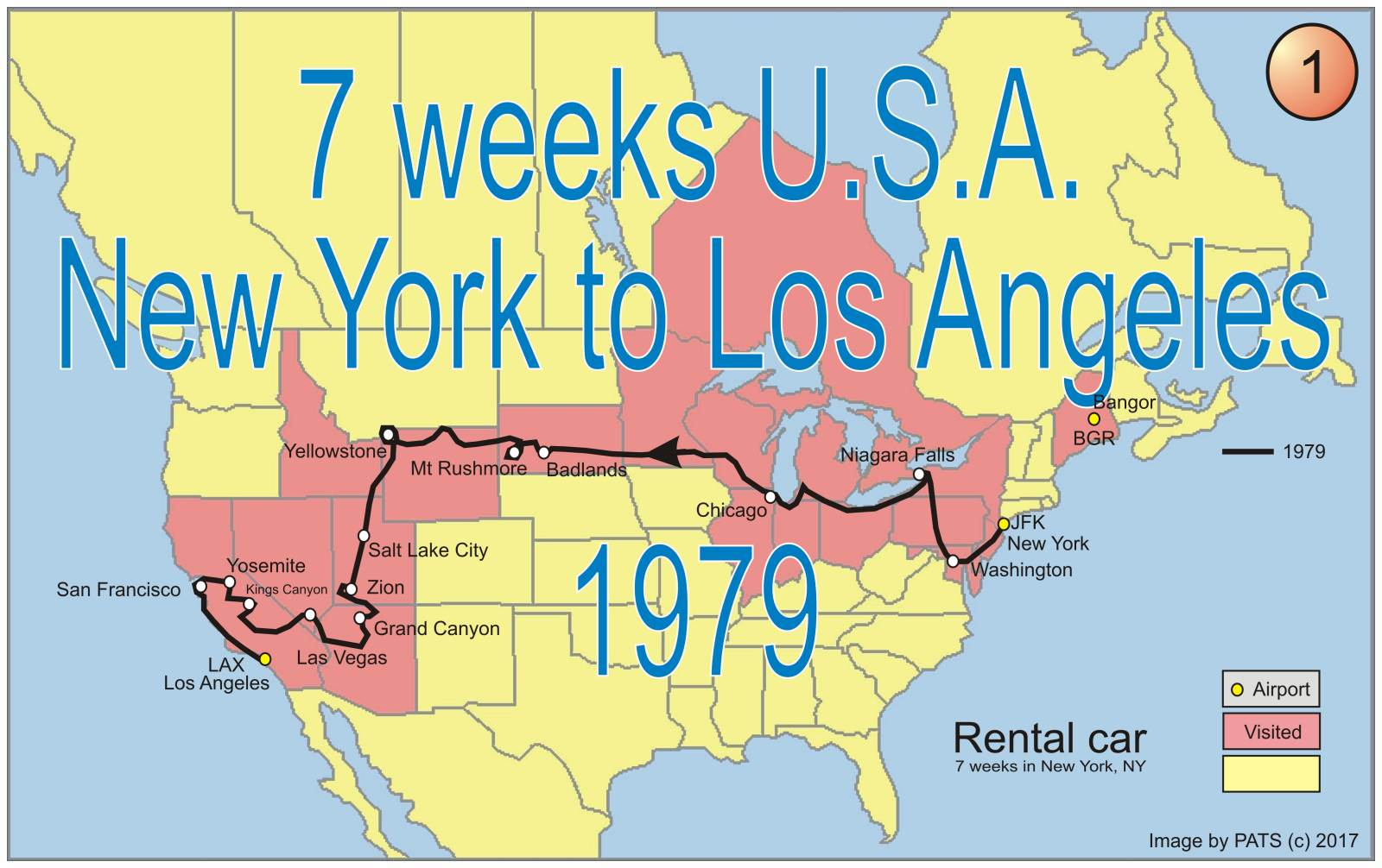 1979 - 7 weeks - New York to Los Angeles