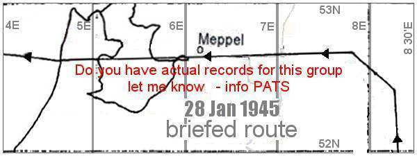 Briefed route - 28 Jan 1945