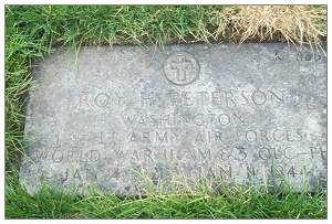 tombstone - 1st Lt. Roy H. Peterson - Willamette National Cemetery, Plot: K, 863