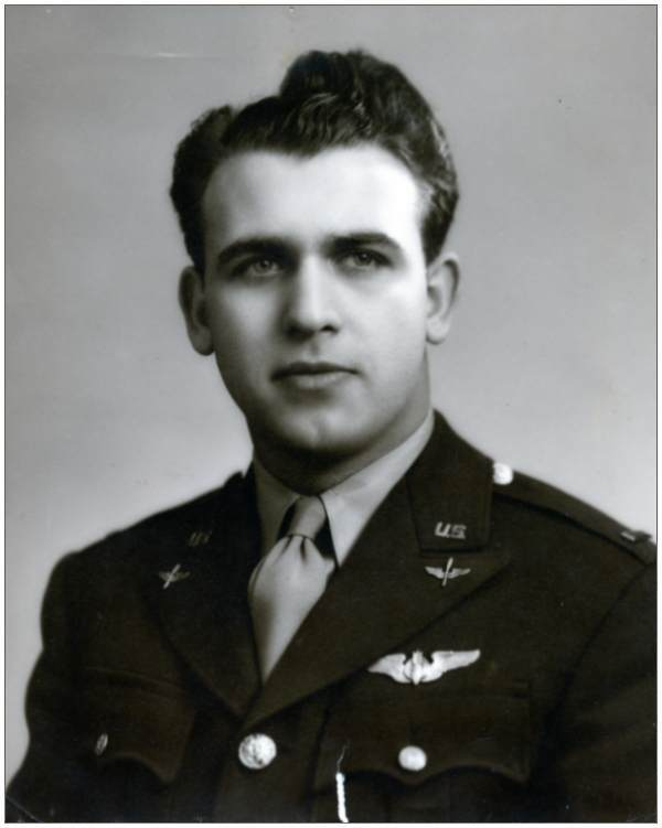 O-732613 - 2nd Lt. - Bombardier - Anthony Louis Destro .... original b/w
