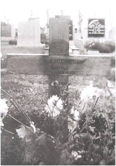 Gravemarker - P/O. - Albert James Sutton - Akkrum Cemetery
