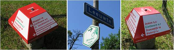 ANWB signs at Knooppunt 75 - Leeuwte
