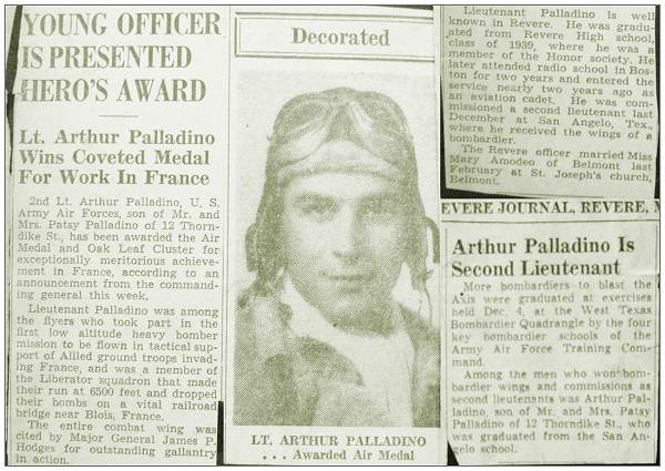 Articles - 2nd Lt. Arthur Palladino - Revere Journal, Revere, MA