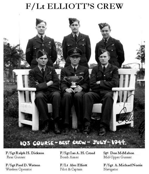 103 Course - 'Best crew' - July 1944