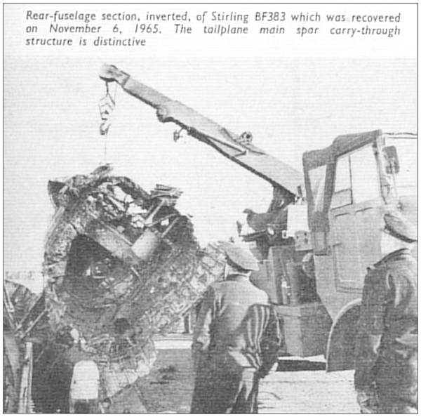 Stirling BF383 - Rear-fuselage section recovered on 06 Nov 1965 - FLIGHT International, page 684
