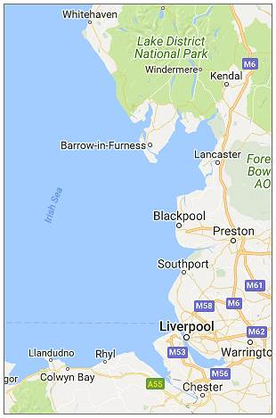 Barrow-in-Furness - Irish Sea - Google Maps
