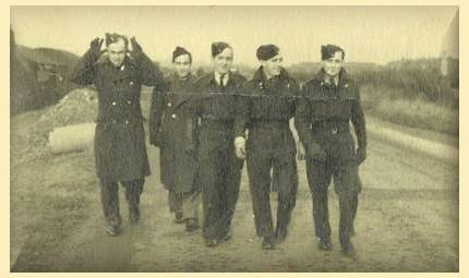 Bill Cottam, Harry Martin and three others - 1943
