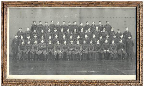 Squadron photo - Course No.5 - with seven signatures on back