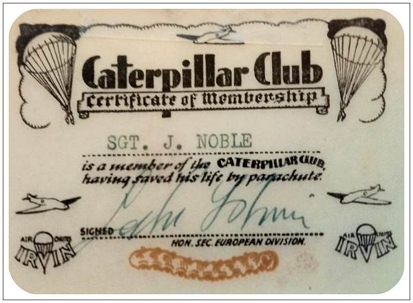 Sgt. J. Noble - Caterpillar Club
