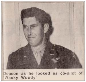 O-689306 - 2nd Lt. Frank M. Deason - Co-pilot of 'Wacky Woody'