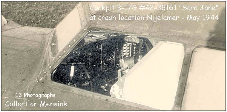 Cockpit B-17G - 'SARA JANE' - #42-38161 at crash location