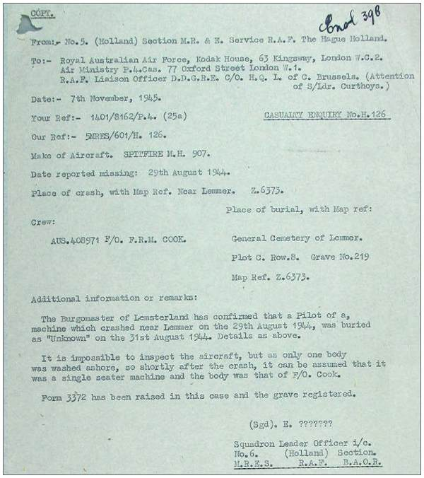 Cook - RAAF records - page 27 - 07 Nov 1945