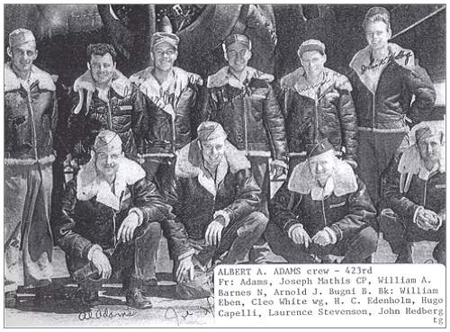 Crew Albert A. Adams - 1943 - 306th BG 423rd BS