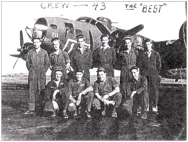Crew #43 - the 'BEST' - at Geiger Air Force Base, Spokane, WA - 1943