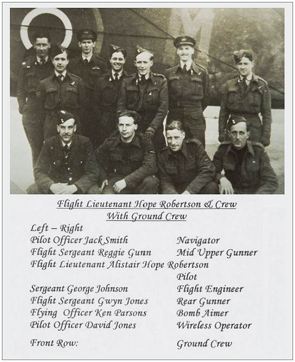 MZ511 - Crew Hope-Robertson with Ground crew - Display 578 Squadron reunion