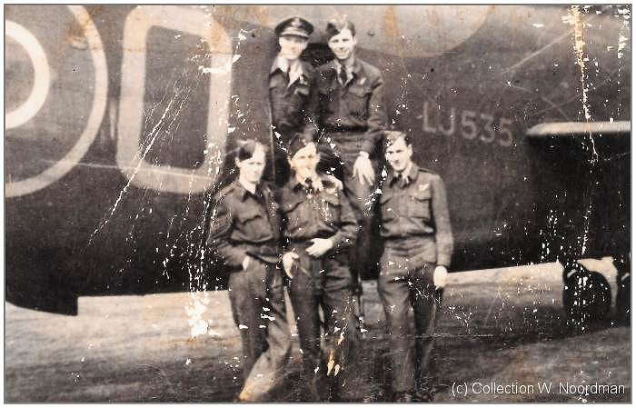 Part of crew Rennie - probably summer 1944 - with Short S.29 Stirling III/IV LJ535