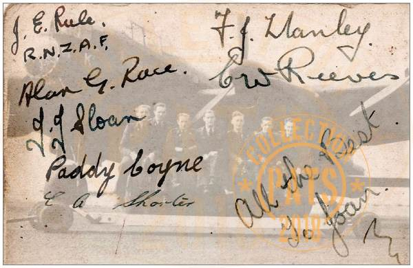 Crew Rule - Aug-Sep 1943 - signatures - Elsham Wolds, No.103 Sqdn RAF