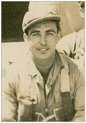 Crop of crew photo - S/Sgt. - Right Waist Gunner - Charles James McDonald