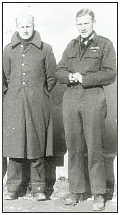 David Osborne with John Smith - while in POW Camp