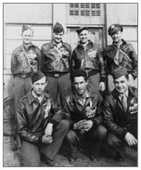 S/Sgt. Fred B. Hern with six of 'DogBreath's crew members