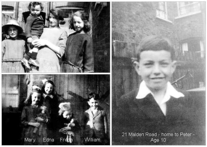 Doye children - Edna, William, Mary, Freda and Peter