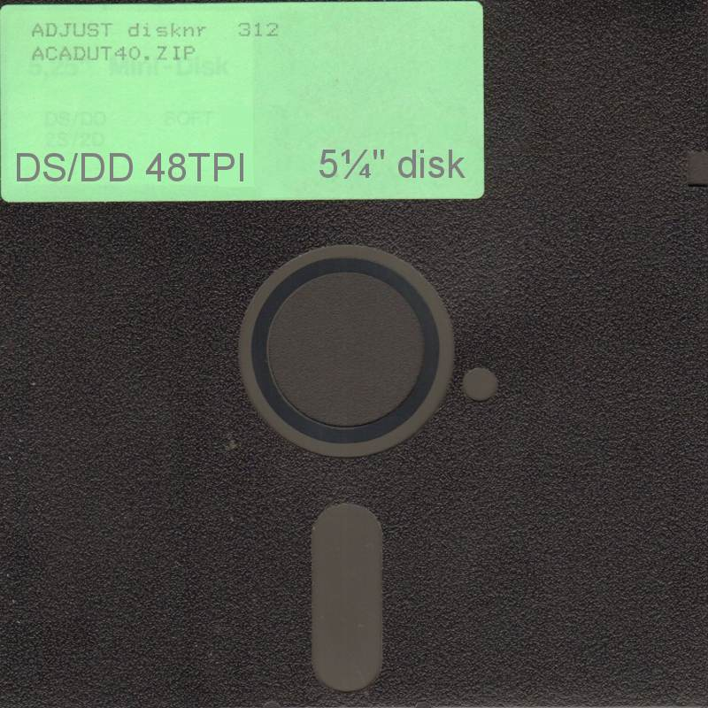 FLOPPY 5¼ inch - drive A