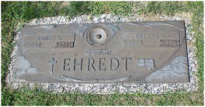 Headstone - James A. and Bettye R. Ehredt, Thornton, CO