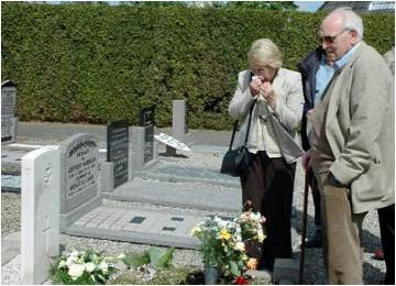 Eileen D. and Donald A. Race - cemetery Vollenhove - May 2007