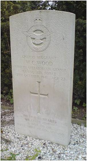 headstone - Sgt. William C. Wood - UK - RAFVR