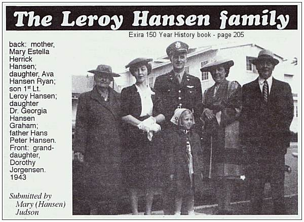 Exira 150 year history - page 205 - LeRoy Hansen - 1943