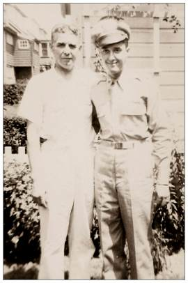 2nd Lt. Robert A. Gum, Sr with his father Robert Leslie Gum