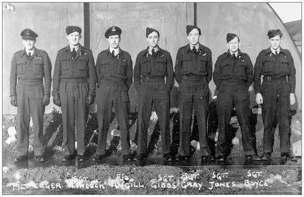 F/Lt. Luger and crew - January 1945