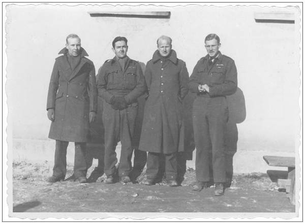 l-r: Philip Fussey, unknown, David Osborne and John Smith - while in Oflag XXIB 'Schubin/Szubin'