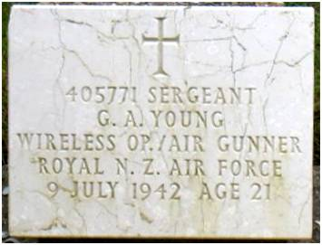 Headstone - Sgt. George Anthony Young - RNZAF -