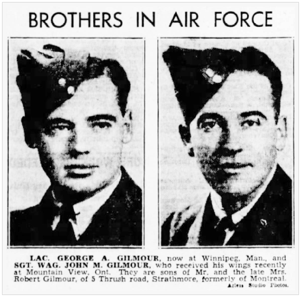 Gilmour brothers in Air Force