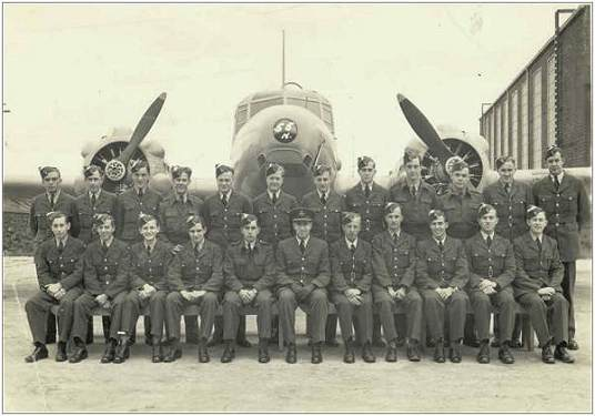 Group with Sgt. Cecil Joseph Purcell - front row - 5th from left