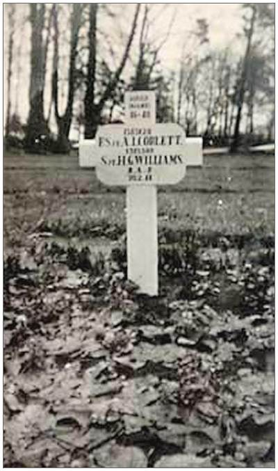 Harderwijk - initial Joint Grave 46-48 - F/Sgt. Arthur Ian Corlett and Sgt. Haydn George Williams