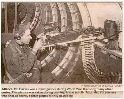 Gerald Harvey training waist-gunner