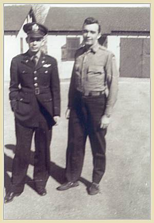 Pilot Smith (right) with Navigator Hawkins, Dalhart, TX