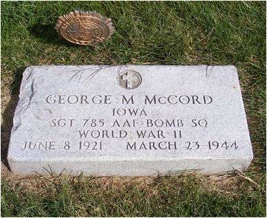 Headstone - George M. McCord - Cemetery