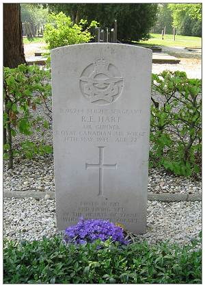 Headstone - F/Sgt.  Ralph Eric Hart - RCAF - 22 Apr 2011 by PATS