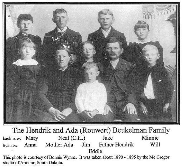 Hendrik Beukelman / Adrianna Rouwert family - South Dakota