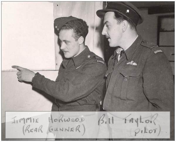 Jimmie Horwood (Rear Gunner) and Bill Taylor (Pilot) - 1944, UK