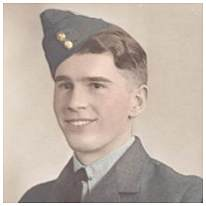 R/51830 - Sgt. - Front Air Gunner - James 'Jim' Norville Kirk - RCAF - Age 22 - POW - in Camp L6, POW No. 185