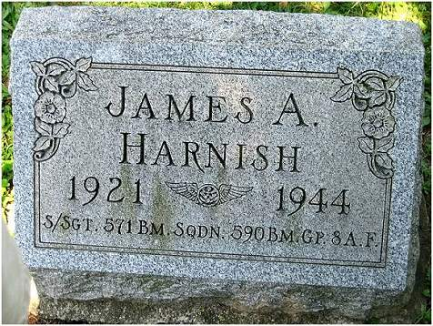 Headstone James A Harnish - Clarion, PA - courtesy Harnish family