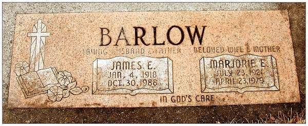 Memorial - James E. Barlow - Marjorie E. Barlow