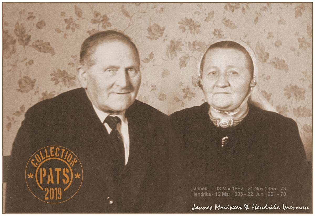 Jannes Mooiweer (1882-1955) and Hendrika Voerman (1883-1961)