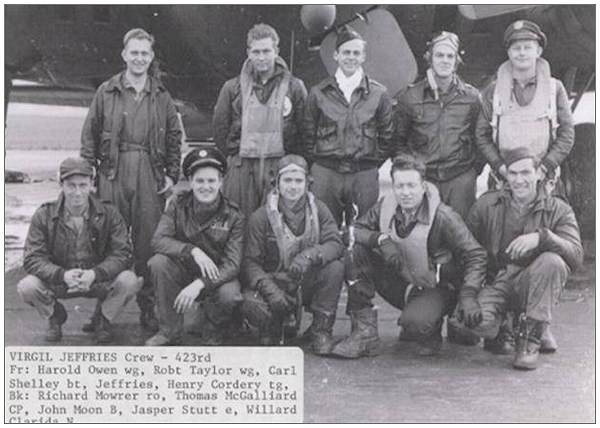 Crew Virgil Jeffries - 423rd