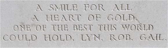 Epigraph - Arthur William Jeffries - Emmeloord Cemetery